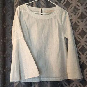 Loft bell sleeve blouse